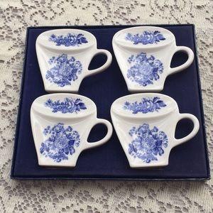 Four Spode teabag holders